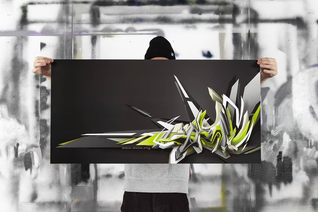 """Swinging DAIM"" | Poster | 101 x 50 cm | © DAIM"